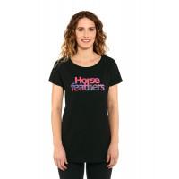 Horsefeathers CHELSEA black dámské tričko s krátkým rukávem - M