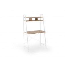 Psací stůl Narvik B2 bílý/dub sonoma - HALMAR