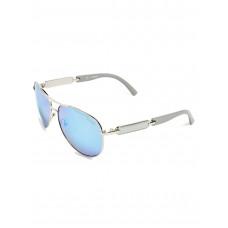 GUESS brýle Mirrored Aviator Sunglasses šedé vel.