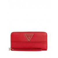 GUESS peněženka Carys Logo Large Clutch Organizer červená vel.