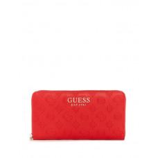 GUESS peněženka Ilenia Check Organizer červená vel.