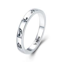 OLIVIE Stříbrný prsten HUDBA 3448 Velikost prstenů: 7 (EU: 54 - 56)
