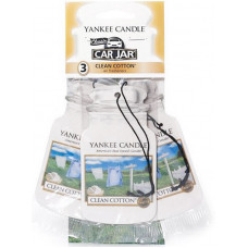 Yankee Candle Car Jar Classic 3 Assorted Fragrances Clean Cotton