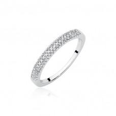 OLIVIE Stříbrný prsten se zirkony 1948 Velikost prstenů: 7 (EU: 54 - 56)