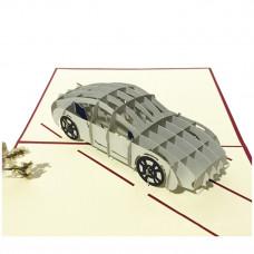 3D přání Bílé sportovní auto