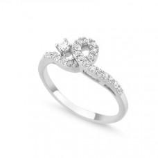 OLIVIE Stříbrný prsten se zirkony 1369 Velikost prstenů: 6 (EU: 51 - 53)