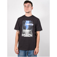 Rip Curl GD/BD washed black pánské tričko s krátkým rukávem - XL