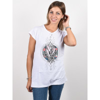 Animal CRYSTAL WINGS white dámské tričko s krátkým rukávem - 8