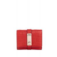 GUESS peněženka Asher Trifold Wallet červená vel.