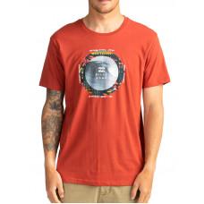 Billabong PLUG IN DEEP RED pánské tričko s krátkým rukávem - L