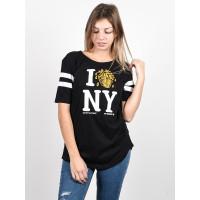 Element I HEART FOOTBALL black dámské tričko s krátkým rukávem - M