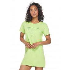 GUESS šaty Brite Logo T-Shirt Dress glowstick vel. S