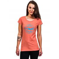 Horsefeathers CHILLER CORAL dámské tričko s krátkým rukávem - M