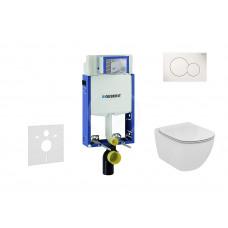 Geberit Sada pro závěsné WC + klozet a sedátko Ideal Standard Tesi - sada s tlačítkem Sigma01, bílé 110.302.00.5 NF1