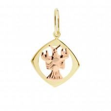 Zlato Zlatý přívěsek znamení zvěrokruhu 3220067 Znamení zvěrokruhu: Rak