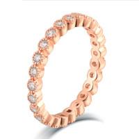 OLIVIE Stříbrný prstýnek ROSE 4708 Velikost prstenů: 8 (EU: 57 - 58)
