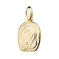 OLIVIE Stříbrný zlacený přívěsek MARIE S DĚŤÁTKEM 2992