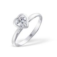 OLIVIE Stříbrný prsten SRDCE 1204 Velikost prstenů: 8 (EU: 57 - 58)