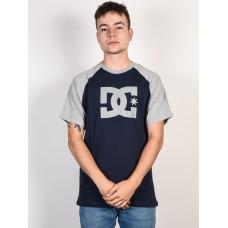 Dc STAR BLACK IRIS/ GREY HEATHER pánské tričko s krátkým rukávem - XL