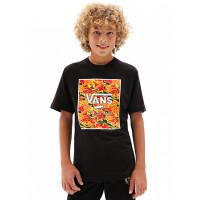 Vans PRINT BOX BLACK/FLAME CAMO dětské tričko s krátkým rukávem - XL
