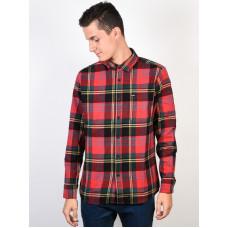 Volcom Caden TRUE RED pánská košile dlouhý rukáv - S