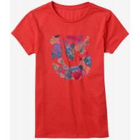 Burton GIRLS PENELOPE CORAL HEATHER dětské tričko s krátkým rukávem - S