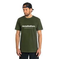 Horsefeathers QUARTER olive pánské tričko s krátkým rukávem - M