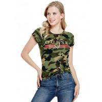 GUESS tričko Matti Metallic Logo Tee camouflage vel. XL