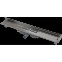Alcaplast APZ116-1050 LOW Podlahový žlab s okrajem pro plný rošt, pevný límec ke stěně kout min. 1100mm (APZ116-1050)