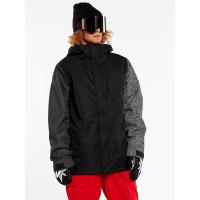 Volcom 17Forty Ins black check zimní bunda pánská - S