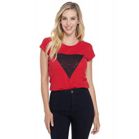 GUESS tričko Moe Logo Mesh Tee červené vel. S