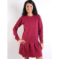 Femi Pleasure MELA burgundy společenské šaty krátké - L