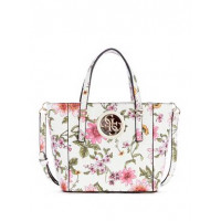 GUESS kabelka Open Road Floral Mini Tote floral bílá vel.