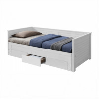 Rozkládací postel 90x200 GORETA bílá - TempoKondela