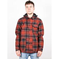 Billabong FURNACE BONDED RED pánská košile dlouhý rukáv - XL