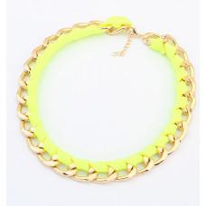 Náhrdelník Tkanička- 4 barvy Barva: Žlutý