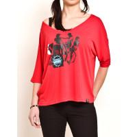 Vehicle THERIDER RED dámské tričko s dlouhým rukávem - L