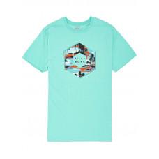 Billabong X-CESS LIGHT AQUA pánské tričko s krátkým rukávem - L