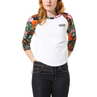 Vans NURSERY WHITE/MULTI TROPIC dámské tričko s dlouhým rukávem - XS