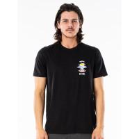 Rip Curl SEARCH ESSENTIAL black pánské tričko s krátkým rukávem - M