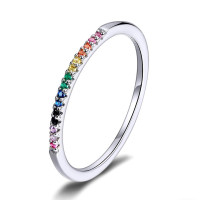 OLIVIE Stříbrný prsten COLORS 3787 Velikost prstenů: 8 (EU: 57 - 58)