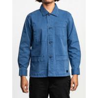 RVCA COULEUR CHORE COAT SURPLUS BLUE pánská košile dlouhý rukáv - M