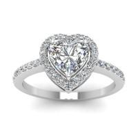 OLIVIE Stříbrný prsten SRDCE 2974 Velikost prstenů: 5 (EU: 47 - 50)