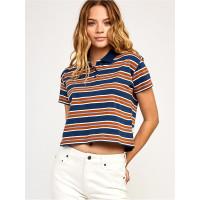 RVCA POLAR NAVY dámské tričko s krátkým rukávem - S