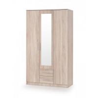 Šatní skříň Lima S3 dub sonoma/zrcadlo - HALMAR