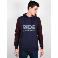 Ride Logo Henley NAVY pánská mikina - M