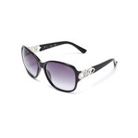 GUESS brýle Oversized Chain-Trim Sunglasses černé vel.