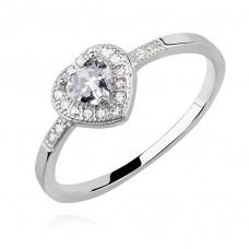 OLIVIE Stříbrný prsten ČIRÉ SRDCE 2400 Velikost prstenů: 8 (EU: 57 - 58)