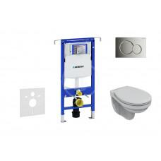 Geberit Sada pro závěsné WC + klozet a sedátko Ideal Standard Quarzo - sada s tlačítkem Sigma01, chrom 111.355.00.5 NR2