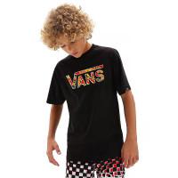 Vans CLASSIC LOGO FILL BLACK/FLAME CAMO dětské tričko s krátkým rukávem - 4